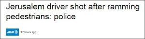 Jerusalemer Fahrer erschossen nach Rammen von Fußgängern: Polizei