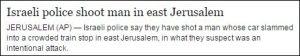 Israelische Polizei erschießt Mann in Ost-Jerusalem