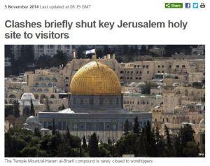 Zusammenstöße führen kurzzeitig zu Abriegelung wichtiger heiliger Stätte Jerusalems vor Besuchern