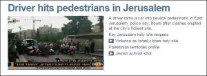 Fahrer erwischt Fußgänger in Jerusalem