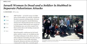 Israelische Frau tot und ein Soldat erstochen bei verschiedenen palästinensischen Angriffen