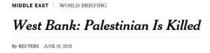 Westjordanland: Palästinenser getötet