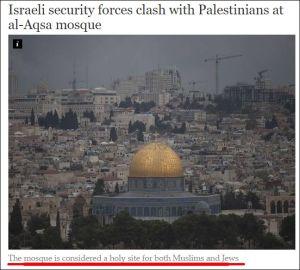 Israelische Sicherheitskräfte haben Schlagabtausch mit Palästinensern an Al-Aqsa-Moschee Die Moschee wird sowohl von Muslimen als auch von Juden als heilig betrachtet