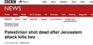 Palästinenser erschossen, nachdem Jerusalemanschlag zwei tötete