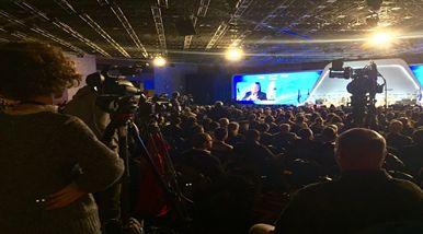 Präsident Reuben Rivlin eröffnet die Anti-BDS-Konferenz in Jerusalem