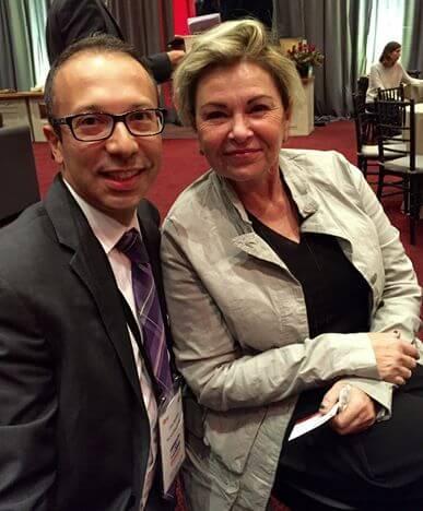 Joe Hyams und Roseanne Barr auf der Anti-BDS-Konferenz