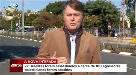 """Henrique Cymermans Texteinblendung: """"22 Israelis wurden ermordet und rund 100 palästinensische Angreifer getötet."""""""